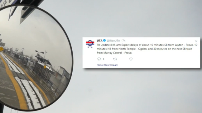 Commuters annoyed by Frontrunner delays, UTA says it's to be