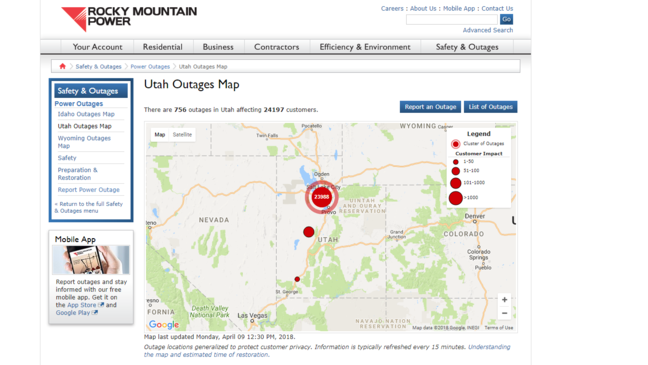 Multiple Power Outages Affecting Salt Lake Valley Kutv
