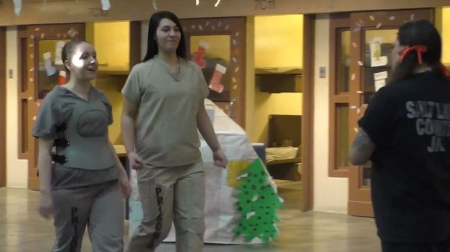 Salt Lake County Jail inmates script, act in holiday-themed