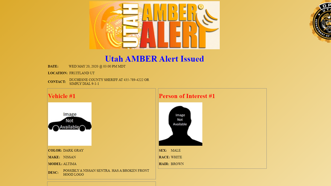 Amber Alert For Abducted 4 Year Old Canceled 30 Minutes After Issued Kutv