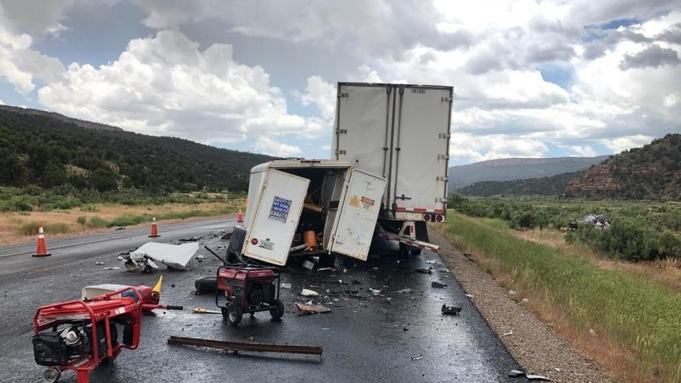1 passenger killed, another loses arm in crash with semi