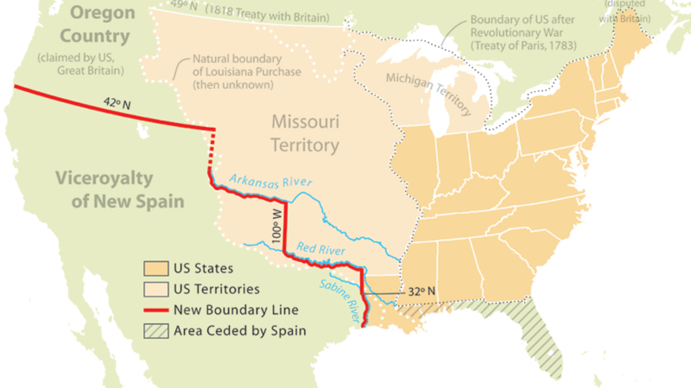 Today In History Treaty Defines Usmexico Border Us House Denies - Us-and-mexico-map