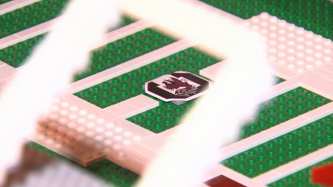 Lego replica USC's Williams-Brice Stadium made by Charleston