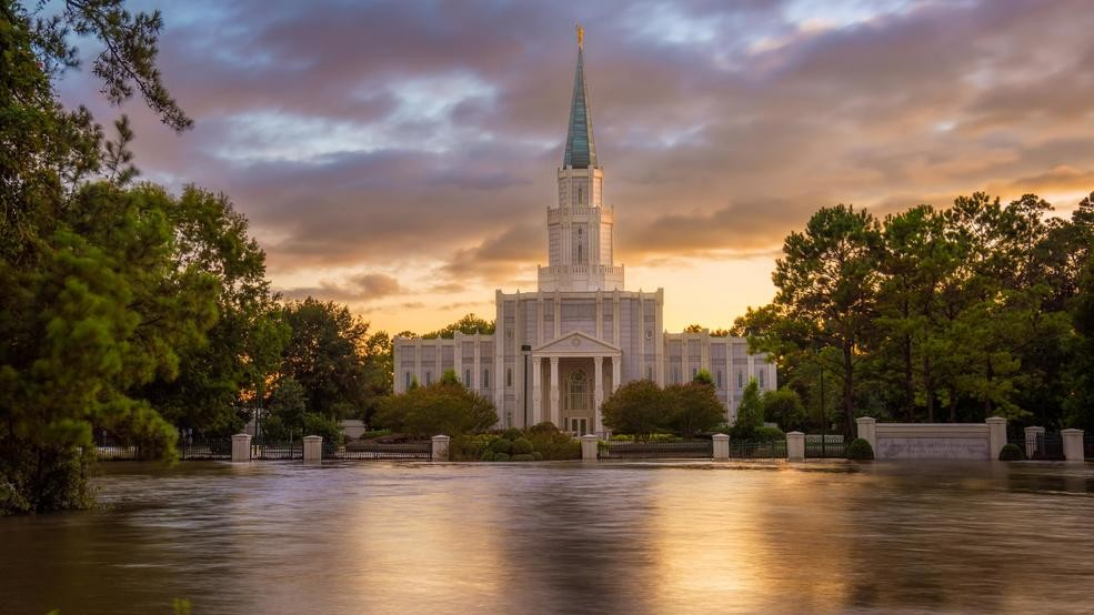 Image result for houston temple flooded