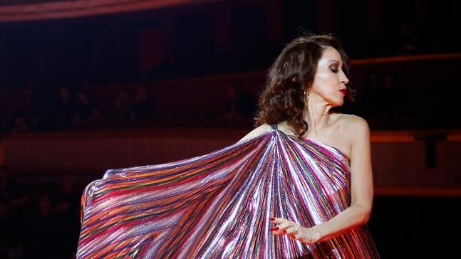 33b21618463 Model Pat Cleveland wears a creation as part of the Tommy Now ready to wear  Fall-Winter 2019-2020 collection, that was presented in Paris, Saturday, ...