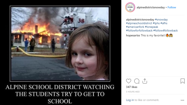 Alpine School District students vent no snow day frustration