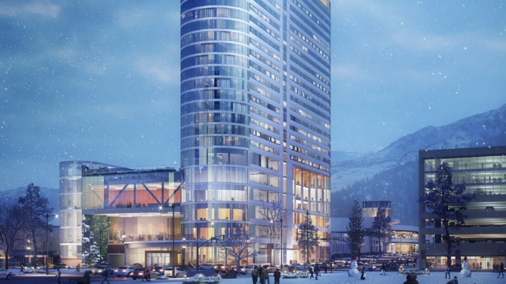 Hotels In Salt Lake City >> 28 Story Hotel Planned For Salt Lake City Convention Center