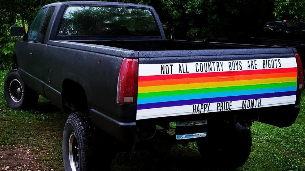Straight rural man decorates pickup for Pride Month: 'Not all country boys  are bigots'   KUTV